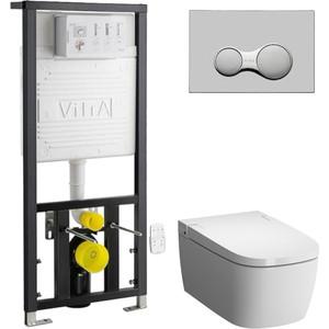 Комплект Vitra Metropole V-Care Basic с инсталляцией, безободковый, микролифтом (5674B003-6103, 700-1873)