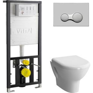 Комплект Vitra Zentrum с инсталляцией, с микролифтом (5785B003-0075, 700-1873, 801-003-009)