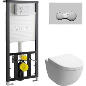 Комплект Vitra Sento с инсталляцией, с микролифтом (4448B003-0075, 700-1873, 120-003-009)