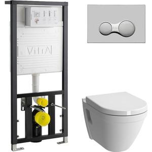 Комплект Vitra S50 с инсталляцией, с биде, с микролифтом (5318B003-0850, 700-1873, 801-003-009)