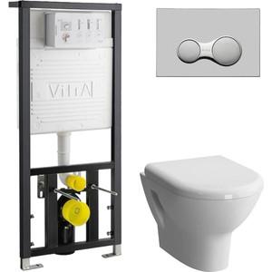 Комплект Vitra Zentrum Rim-Ex с инсталляцией, безободковый, микролифтом (5795B003-0075, 700-1873, 801-003-009)