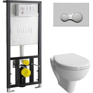 Комплект Vitra S20 Rim-Ex с инсталляцией, безободковый, с микролифтом (7741B003-0075, 700-1873, 800-003-009)