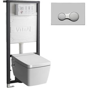 Комплект Vitra Metropole Rim-Ex с инсталляцией, безободковый биде, микролифтом (7672B003-1687, 700-1873, 90-003-009)