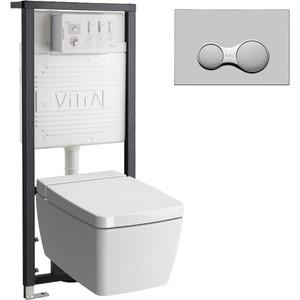 Комплект Vitra Metropole Rim-Ex VitrAfresh с инсталляцией, безободковый, микролифтом (7672B003-1686, 700-1873, 90-003-009)