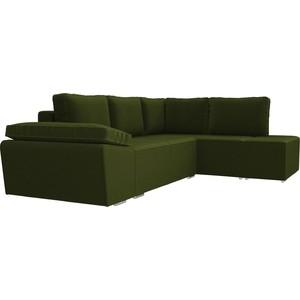Угловой диван Лига Диванов Хавьер микровельвет зеленый правый угол угловой диван лига диванов хавьер микровельвет черный фиолетовый правый угол