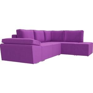 Угловой диван Лига Диванов Хавьер микровельвет фиолетовый правый угол угловой диван лига диванов хавьер микровельвет черный фиолетовый правый угол