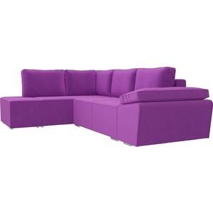 Угловой диван Лига Диванов Хавьер микровельвет фиолетовый левый угол угловой диван лига диванов хавьер микровельвет черный фиолетовый правый угол