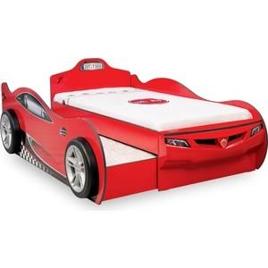 Кровать Cilek Coupe красная с выдвижным спальным местом
