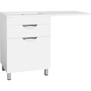 Тумба под раковину Style line Жасмин 60 (120) с бельевой корзиной, белая, для стиральной машины (2000949223698)