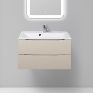 Тумба с раковиной BelBagno Marino 80 crema opaco (MARINO-800-2C-SO-CO-P, BB800/450-LV-MR-PR)