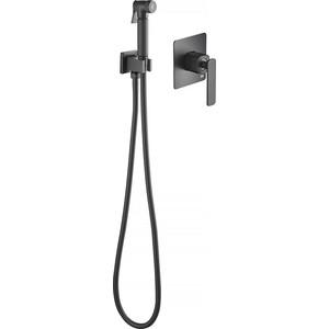Смеситель для душа Timo Torne с гигиеническим душем, встраиваемый, черный (4389/03SM)