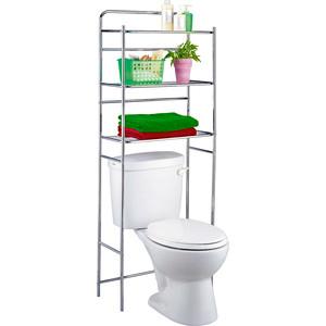 Полка Tatkraft TANKEN 3-х ярусная напольная для туалета, 59.5 x 26 x 151.5 см (13292)
