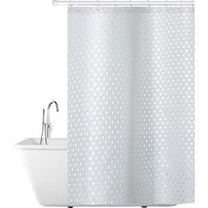 Штора для ванной комнаты Tatkraft PURL тканевая, водонепроницаемый материал, приятная на ощупь, можно стирать в машине 180 x см (17382)