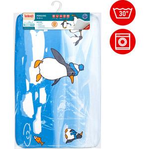 Коврик для ванной Tatkraft PENGUINS ULTRA SOFT со специальным противоскользящим основанием, 50 x 80 см на хангере (18624) коврик для ванной комнаты tatkraft penguins 50 х 80 см
