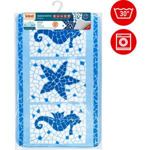 Коврик для ванной Tatkraft MARINE MOTIFS ULTRA SOFT со специальным противоскользящим основанием, 50 x 80 см (14916) коврик для ванной комнаты tatkraft chamomile 50 х 80 см