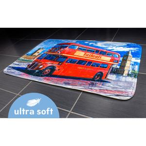 Коврик для ванной Tatkraft LONDON BUS ULTRA SOFT со специальным противоскользящим основанием, 50 x 80 см (14978) коврик для ванной комнаты tatkraft chamomile 50 х 80 см