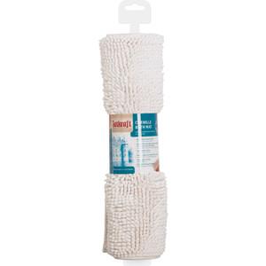 Коврик для ванной Tatkraft EVA из шенилла со специальным противоскользяшим основанием, 50 x 80 см, высота ворса 1.5 см, белый (14541) коврик для ванной комнаты tatkraft chamomile 50 х 80 см