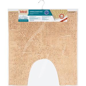 Коврик для туалета Tatkraft EMIL из шенилла со специальным противоскользящим основанием, 55 x 60 см, высота ворса 1.5 песочный (14169)
