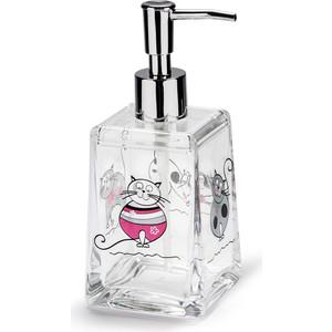 Дозатор для жидкого мыла Tatkraft ACRYL FUNNY CATS, акрил (12974) (12974)