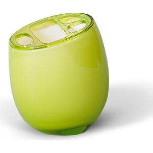 Стакан для ванной комнаты Tatkraft REPOSE GREEN, многослойный, ударопрочный акрил зубных щеток (12301)