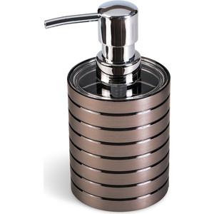 Дозатор для жидкого мыла Tatkraft KING TOWER BRONZE, акрил (12561)