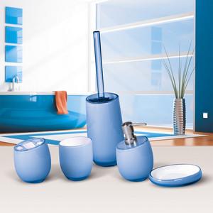 Гарнитур для туалета Tatkraft REPOSE BLUE, многослойный, ударопрочный акрил, 35 см (12288)