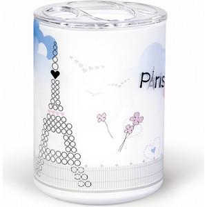 Стакан для ванной комнаты Tatkraft PARIS MADEMOISELLE ACRYL 3D, многослойный, ударопрочный акрил зубных щеток (19065)