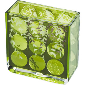 Стакан для ванной комнаты Tatkraft Acryl 3D MAGIC EMERALD, акрил для зубных щекто (13131) стакан для ванной комнаты king tower