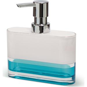 Дозатор для жидкого мыла Tatkraft TOPAZ BLUE, многослойный, ударопрочный акрил (12752)