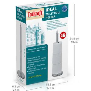 Держатель для туалетной бумаги Tatkraft IDEAL 4-x рулонов напольный 14x51 см (13520)