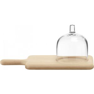 Блюдо сервировочное со стеклянным куполом 35.5 см LSA International Paddle (G1163-35-301)