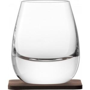 Набор из 2 стаканов с деревянными подставками 250 мл LSA International Islay Whisky (G1213-09-301)