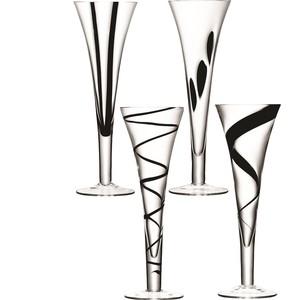 Набор из 4 бокалов-флейт, 250 мл LSA International Jazz (G302-06-987)