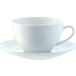 Набор из 4 округлых чашек с блюдцем 220 мл LSA International Dine (P019-07-997) набор из 4 обеденных тарелок d 28 см lsa international dine p079 27 997