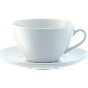 Набор из 4 округлых чашек с блюдцем 350 мл LSA International Dine (P019-13-997) набор из 4 обеденных тарелок d 28 см lsa international dine p079 27 997