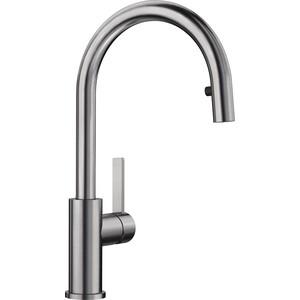 Смеситель для кухни Blanco Candor-S с выдвижным изливом, нержавеющая сталь (523121)