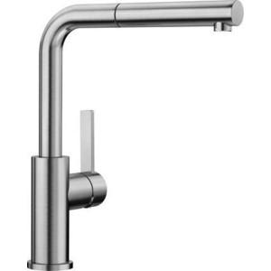 Смеситель для кухни Blanco Lanora-S с выдвижным изливом, нержавеющая сталь (523123)