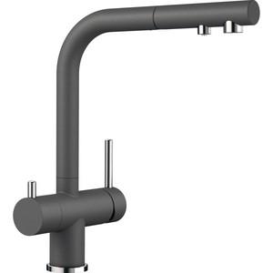 Смеситель для кухни Blanco Fontas-S II с выдвижным изливом и фильтром, темная скала (525207) недорого