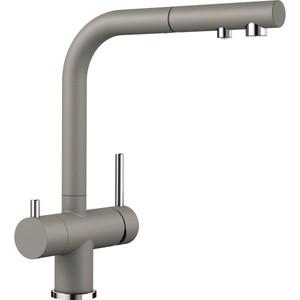 Смеситель для кухни Blanco Fontas-S II под фильтр, с выдвижным изливом, серый-бежевый (525206) смеситель для кухни blanco fontas s ii под фильтр с выдвижным изливом жасмин 525202