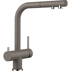 Смеситель для кухни Blanco Fontas-S II под фильтр, с выдвижным изливом, мускат (525209) смеситель для кухни blanco fontas s ii под фильтр с выдвижным изливом жасмин 525202