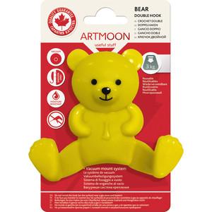 Крючок Art moon BEAR двойной Медведь на вакуумной присоске диаметр 60 мм, 9,5 х 9 3,5 см, макс. вес до 3 кг (699409)