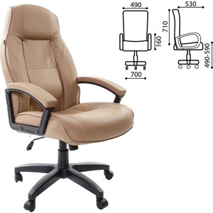 Кресло офисное Brabix Formula EX-537 экокожа, песочное 531390