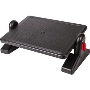 Подставка для ног BRAUBERG Офисная с фиксаторами, черная 531487