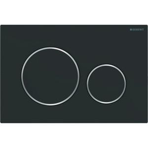 Кнопка смыва Geberit Sigma 20 черный матовый/ хром глянцевый (115.882.14.1)