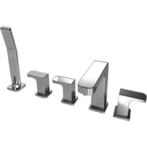 Смеситель на борт ванны Kaiser Sonat на 5 отверстий, хром (34222) смеситель для ванны коллекция sonat 34022 однорычажный хром kaiser кайзер