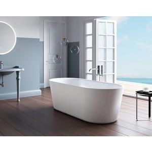 Акриловая ванна BelBagno 148,5x79 слив-перелив хром (BB305-1484 + BB39-OVF-CRM)