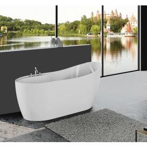 Акриловая ванна BelBagno 152,5x80 слив-перелив золото (BB301 + BB39-OVF-ORO + BB39-TC-ORO)