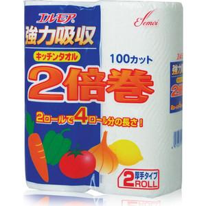 Полотенца бумажные Kami Shodji ELLEMOI 2 слоя рулона х 100 листов