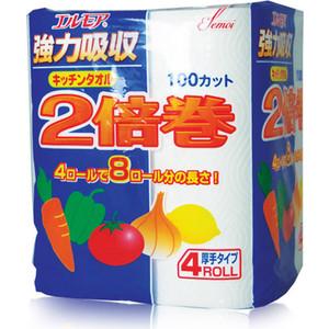 Полотенца бумажные Kami Shodji ELLEMOI 2 слоя 4 рулона х 100 листов