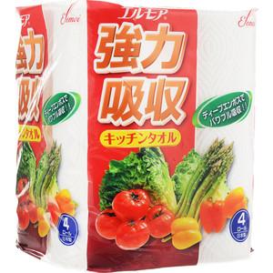 Полотенца бумажные Kami Shodji ELLEMOI 2 слоя 4 рулона х 50 листов